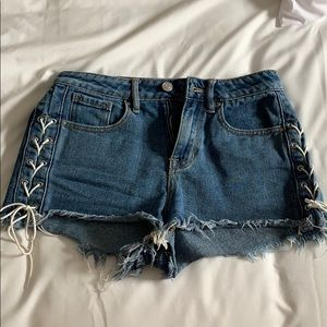 Pacsun High Rose Lace Up Shorts 25!!!